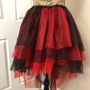 Harley Quinn tutu high/low mesh skirt